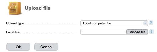 ISPmanager choose file