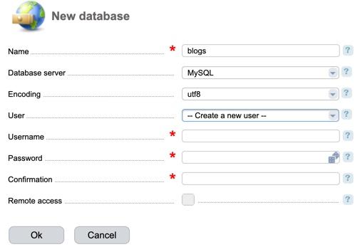 Database Details ISPmanager