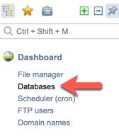 Add Database ISPmanager