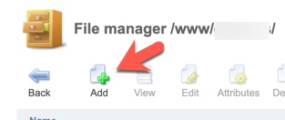 ISPmanager add folder