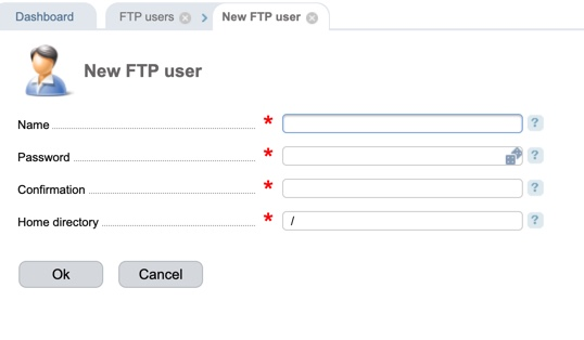 ISPmanager ftp user info