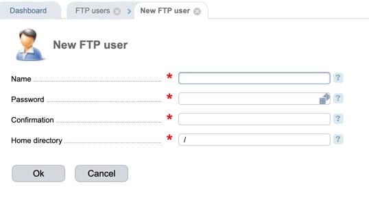 ISPmanager ftp user info